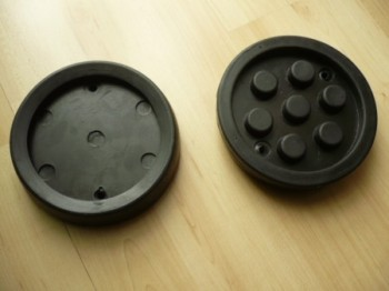 lift pad, rubber pad, rubber plate for Nussbaum lift Type SL 2.25 ATL 2.25 (130mm x 28mm)