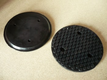 lift pad, rubber pad for autop or Stenhoj lift (158mm x 11mm with steel insert + three holes for screwing)