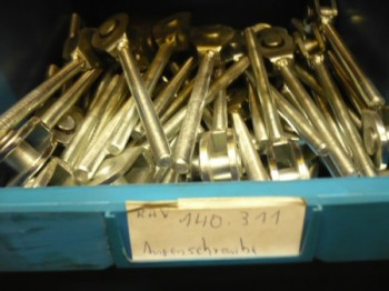 Eye bolt, threaded for locking device RAV Ravaglioli lift type KPN KPX versions
