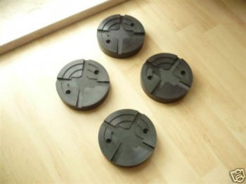 lift pad, rubber pad, rubber plate for IME Autolift (125mm x 28mm, with steel insert)