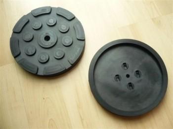 lift pad, rubber pad, rubber plate for Herrmann lifting platform (130mm x 18mm, with steel insert)