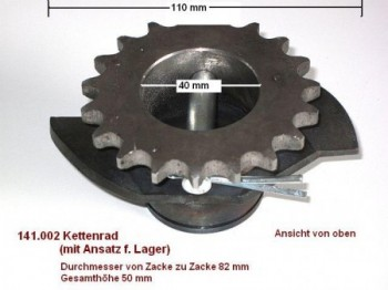 chain sprocket wheel with attachment for bearing for Hofmann Monolift ME 2.0 / 1 post lift