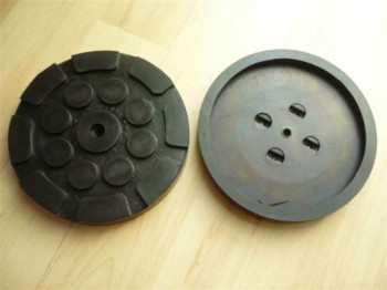 lift pad, rubber pad, rubber plate for Longus Autolift (120mm x 16mm, reinforced construction (metal ring) + 1 center hole)