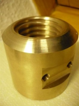 Lifting nut, load nut for AFV Sopron lift type CE 300 (trapezoidal thread 45x6, 68mm diameter and 64mm length)