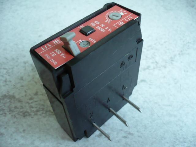 Bimetallic motor circuit breaker overload relay OVERCURRENT RELAY IR 1/1 1,6-2,7A