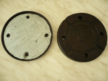 lift pad, rubber pad, rubber plate for Slift Classic 2.25 / IME / CE 300 lift (155mm x 16mm, with steel insert)