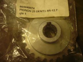 chain sprocket wheel, drive wheel for FOG 444 / FOG4440074 / 664440074 (with feather key)