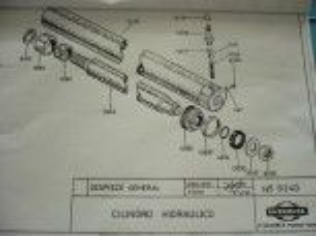 Seal kit Gasket Hydraulic cylinder 9240 ISTOBAL 4272404 Lift