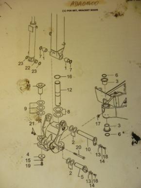Bolt Bushings Gasket Set Yanmar SV17 Mini Excavator ADA01600