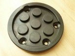 lift pad, rubber pad, rubber plate for Nussbaum lift (120mm x 15mm 4 hole)